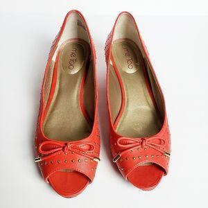 🤎Me Too Yuliya  Leather Peep Toe  Wedge Shoes